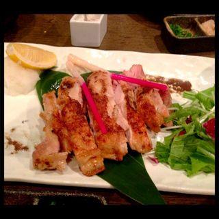 日南鶏 もも肉一枚焼き(さかえや恵比寿本店)