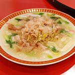 京の皿うどんを注文、焼き麺で