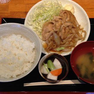 生姜焼き定食(牡蠣バル )