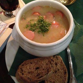 ソーセージ野菜スープ(Brauhaus Mitte)