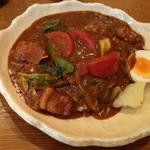 トマトと青野菜のポークカレー