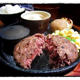 ハンバーグ(150g)~スープ・ライス付(うぉぉー!!!ハンバーグ )