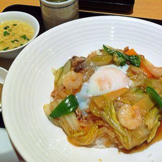 半熟卵の中華丼(浅田屋 日本橋高島屋 )