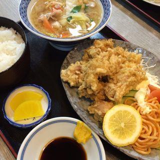 鶏天定食(淀ヤ食堂 )