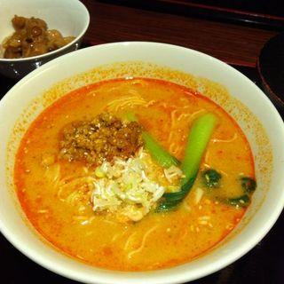 担々麺セット(胡麻ラーメン)(海皇 大阪堂島店 (ハイファン))