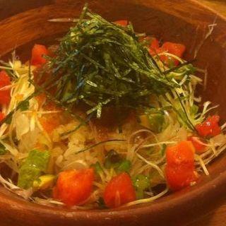 ネギトロとアボカドのヘルシーDON(hole hole cafe&diner 神戸三宮 (ホレホレ カフェアンドダイナー))