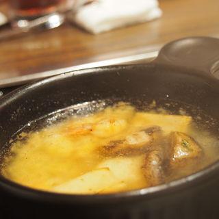 海老キノコのガーリックオイル焼(エビスモンジャ! )