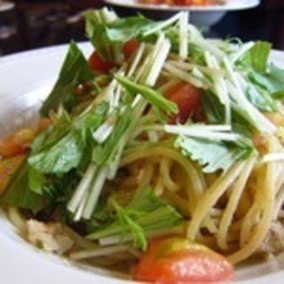 真鯛と京水菜のスパゲッティ(イル ポッツオ (il pozzo))