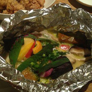 野菜のチーズホイル焼き (ひだまり農園)