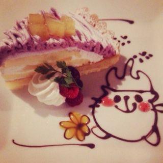 紫イモのタルト(黒猫cafe (クロネコカフェ))