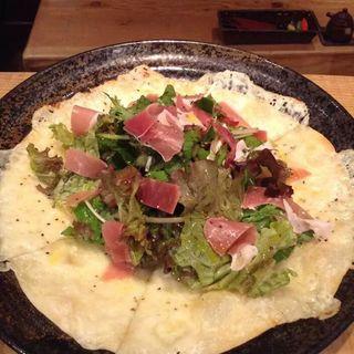 野菜と生ハムのピザ(鎌倉ごはん海月)