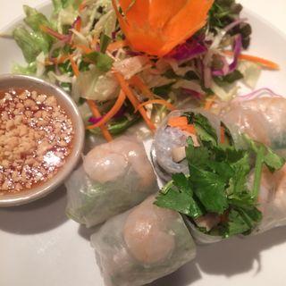タイ風生春巻き(恵比寿 ガパオ食堂)