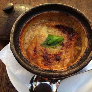 オニオングラタンスープ(茶屋雨巻)