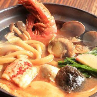 海鮮チゲうどん(かぼ茶庵 )