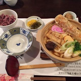 味噌煮込みうどんセット(麺喰 (udon and cafe ))