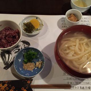 釜あげうどんセット(麺喰 (udon and cafe ))