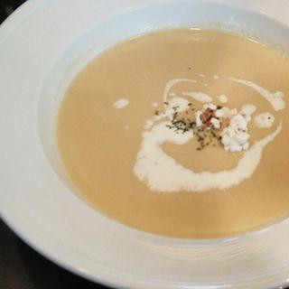 冷製コーンポタージュスープ(カフェ&ガーデン しらさき邸)