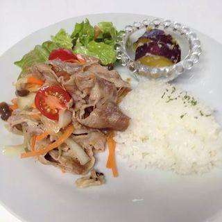豚肉のマリネランチ(きりんカフェ)