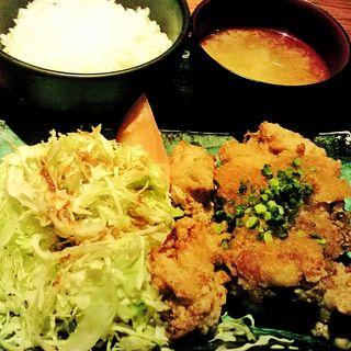 鶏の唐揚げ定食 おろしポン酢(森のしずく)