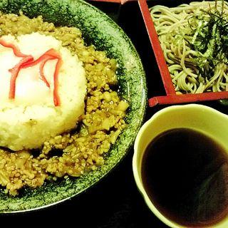 日替わり定食 キーマカレーとミニそば(おごじょ家 東陽町店 (おごじょや))