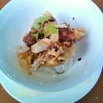 豚肉のかき揚ご飯 香港スタイル