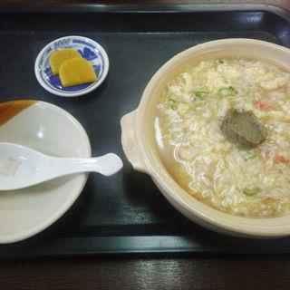 蟹飯麺(カニ味噌入り)