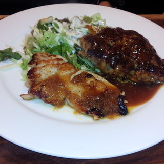 ガーリックチキン&ハンバーグ(ステーキのくいしんぼ 青山店 )