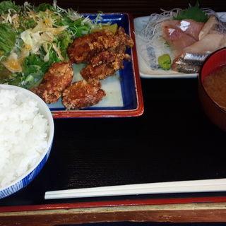 日替わり定食(唐揚げ&刺身)(魚鉄 (【旧店名】鉄))