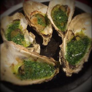 牡蠣のオイル焼き(ボンジョリーナ)