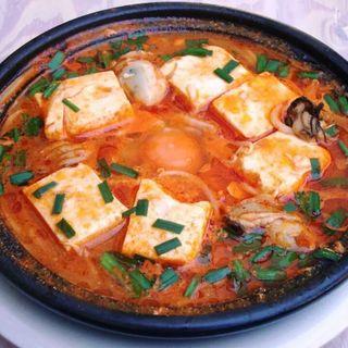 かきと豆腐のチゲラーメン(ぐぁらく)