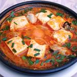 かきと豆腐のチゲラーメン