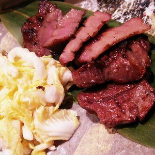 厚切り牛タン定食(ライス、テールスープ付き)(仙台 牛たん 三代目文治 )