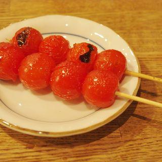 プチトマト串焼き(日本再生酒場 門前仲町店 )