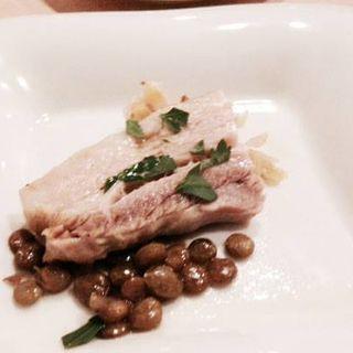 豚肉とレンズ豆のソテー(セルサルサーレ (sel sal sale))
