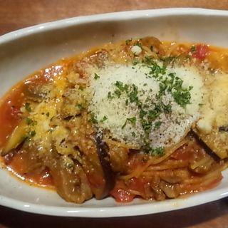 季節のスパゲッティ 牛肉と茄子のトマトソーススパゲッティ(CAFE DIVERGE)