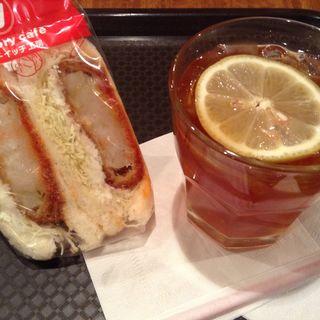 海老カツサンド ドリンクセット(ビクトリー カフェ 阿佐ヶ谷店 (victory cafe))