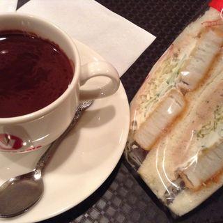 貝柱サンド ドリンクセット(ビクトリー カフェ 阿佐ヶ谷店 (victory cafe))