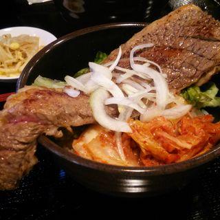 【限定!!】カブリつきステーキ丼(高屋敷肉店 )