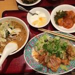 担々麺と油淋鶏のセット(中国酒家 朝陽閣 長堀店 (チョウヨウカク))