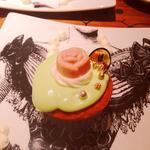ネックレスプレート ローズカップケーキ