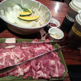 ジンギスカンセット(肉処菜家わくら)