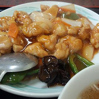 酢豚風鶏肉炒め(龍山 )