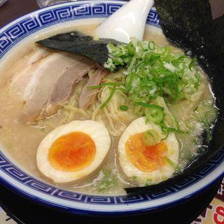 炊出し豚骨醤油麺大盛り(麺家 くさび 郡山富田店 )