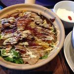 土鍋焼肉炒飯