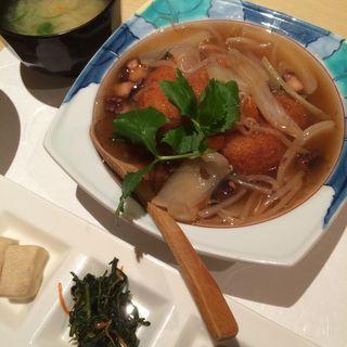 クリームコロッケ野菜あんかけ(割烹 大田川 (かっぽう おおたがわ))