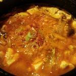 3種類キノコのスン豆腐チゲ(週がわりランチメニュー)