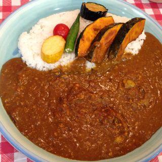 キーマカレー野菜のせ(カレーハウス五番館 新大阪店)