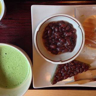 お抹茶とぜんざい&和菓子のセット(茶房こげつ 嵐山店 )