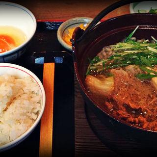 牛すき鍋定食(街かど屋 潮見が丘店 )