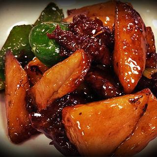 山芋と牛肉の炒め(ピカイチ )